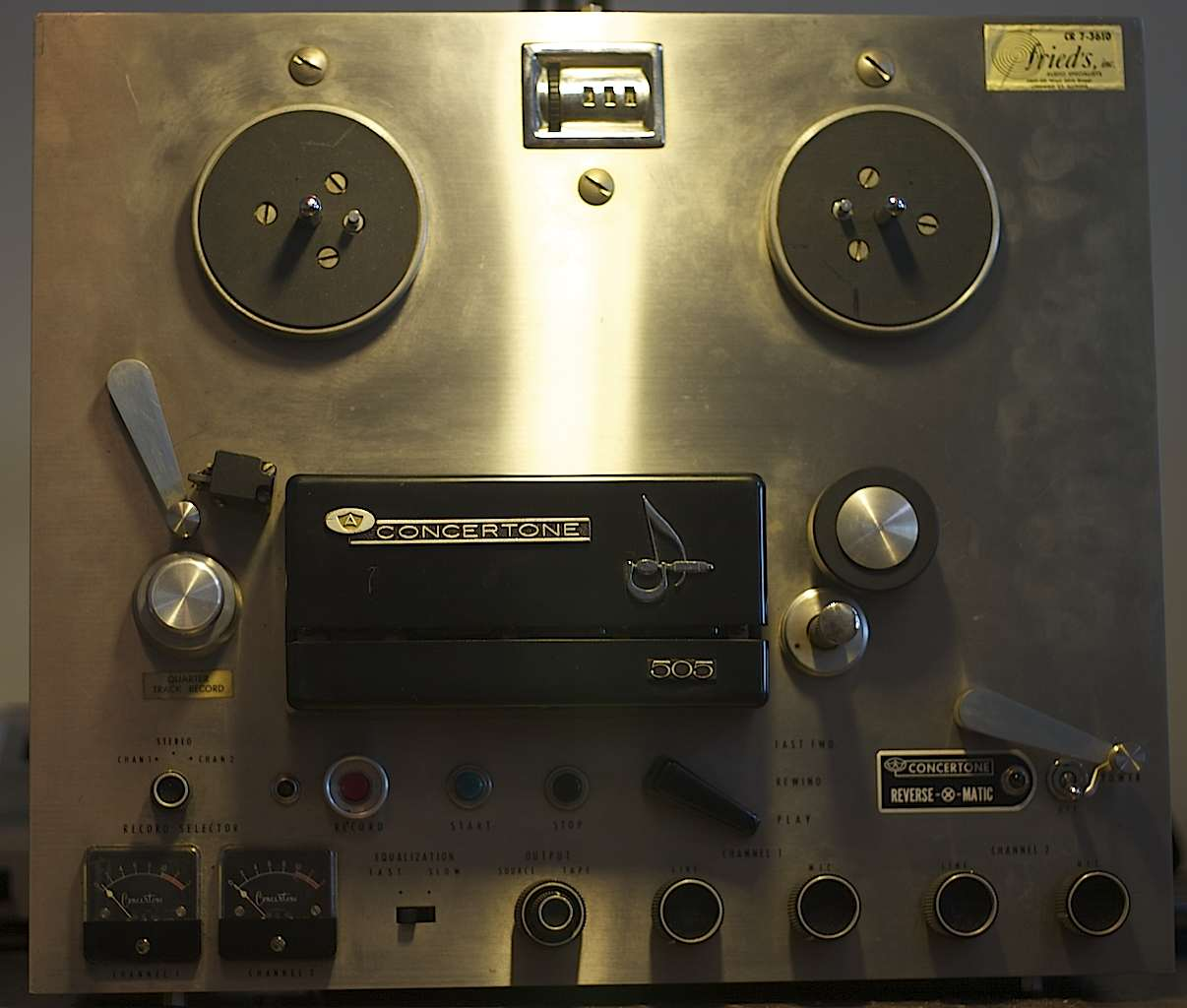 Teac Concertone 505 Tapeheads Tape Audio And Music Forums Wiring Diagram Dave